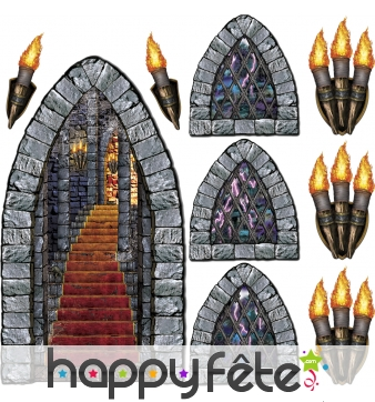 Lot de 9 decors de donjons