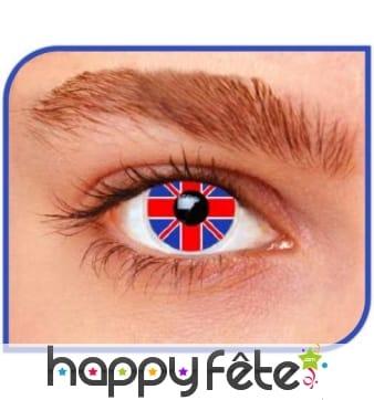 Lentilles drapeau anglais