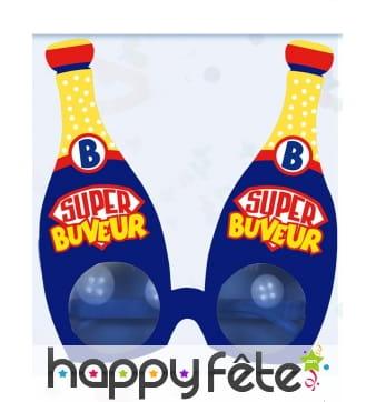 Lunettes de bouteilles de bulles Super Buveur