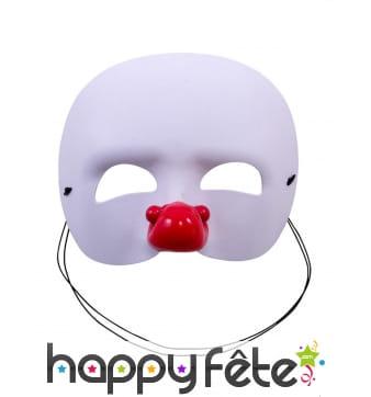 Loup de clown blanc pour enfant