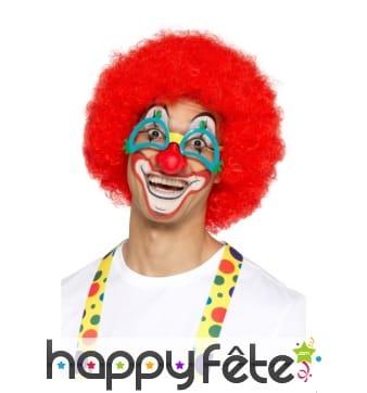 Lunettes de clown avec nez rouge attaché