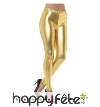 Legging doré disco