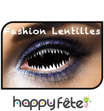 Lentilles dents de requin