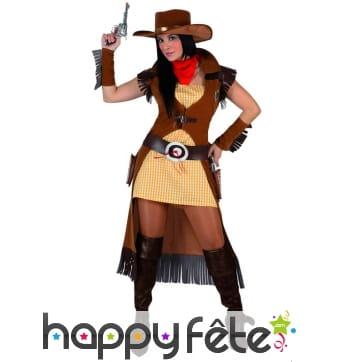 Long déguisement de femme shérif