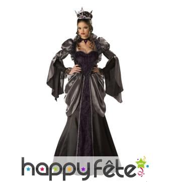 Long déguisement de reine noire