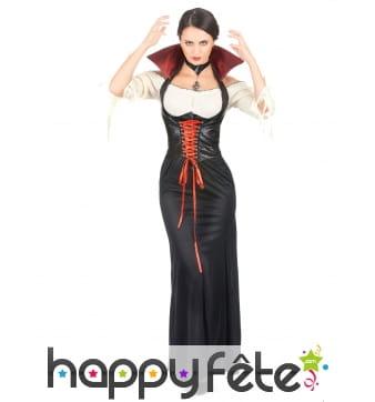 Long déguisement de vampire avec corset