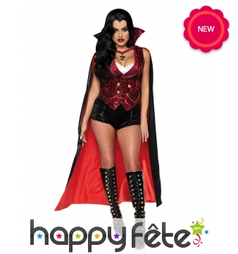Luxueux déguisement de femme vampire pour adulte