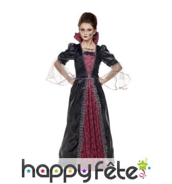 Long déguisement élégant de vampire pour fille