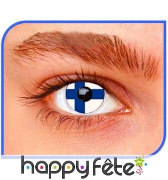 Lentilles drapeau finlandais