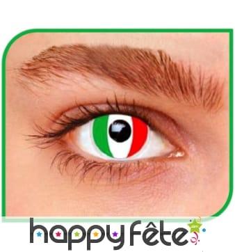 Lentilles drapeau Italien