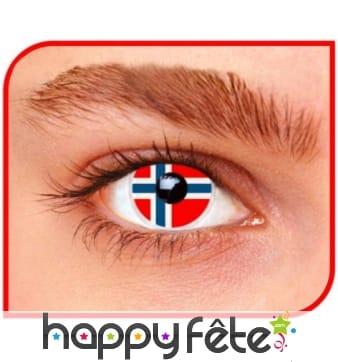 Lentilles drapeau Norvège