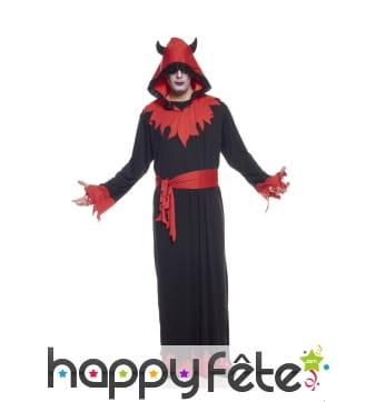 Long déguisement noir et rouge de diable