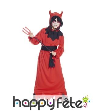 Long déguisement rouge de diable pour garçon