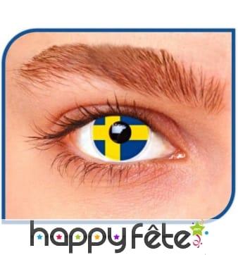 Lentilles drapeau Suède