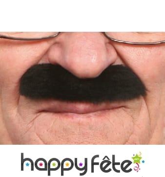 Large et épaisse moustaches noires