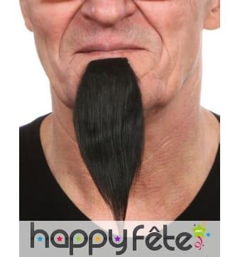 Longue et fine barbichette noire