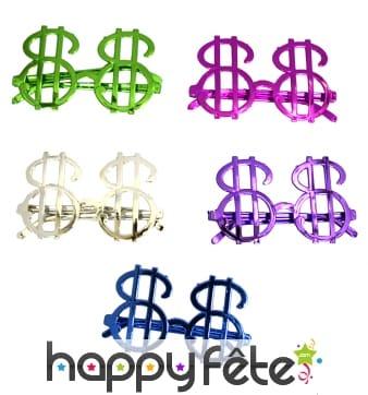 Lunettes en forme de dollar
