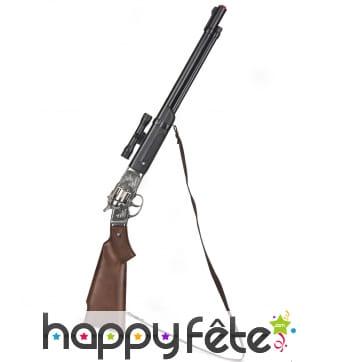 Long fusil 8 coups en plastique