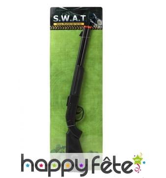 Long fusil SWAT noir en plastique