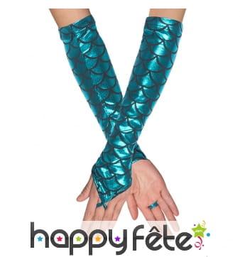Longs gants de sirène pour femme