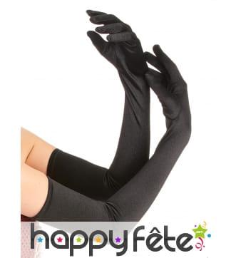 Longs gants noirs de 60cm