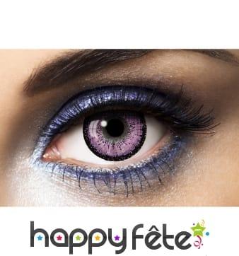 Lentilles grands yeux violettes