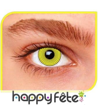 Lentilles hypnotiques jaunes