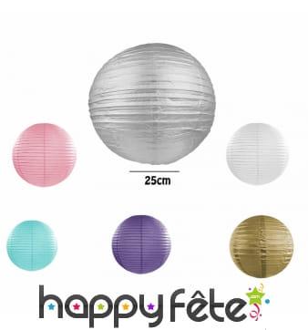 Lanterne japonaise boule de 25 cm
