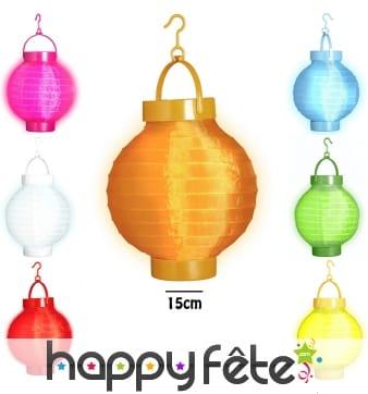 Lanterne lumineuse de forme asiatique, 15 cm