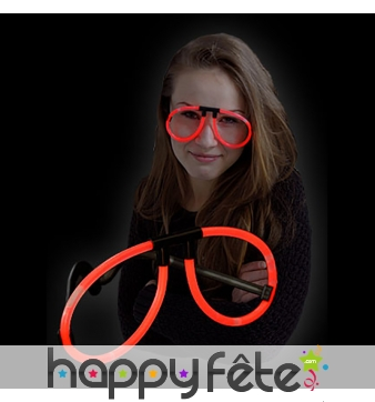 Lunettes lumineuses rouges