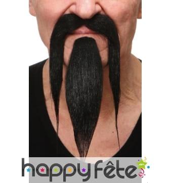 Longue moustache et bouc de chinois