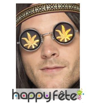 Lunettes marijuana holographiques