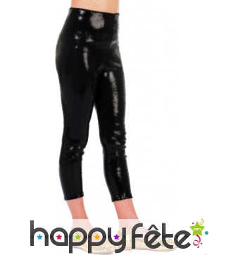 Leggings noir en satin