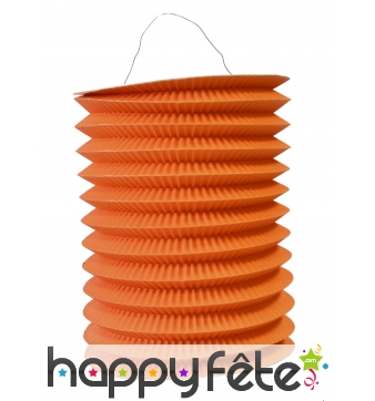 Lampion orange cylindrique