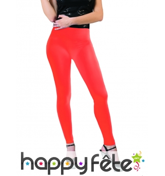 Legging orange fluo taille adulte
