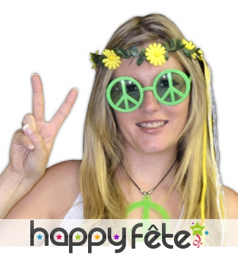 Lunettes peace and love en pvc