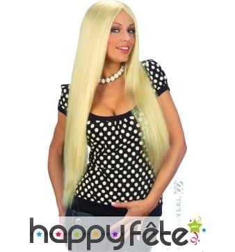 Longue perruque blonde blonde de 75 cm