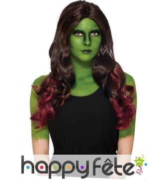 Longue perruque de Gamora pour femme