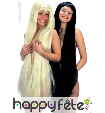 Longue perruque de sirene blonde ou noire