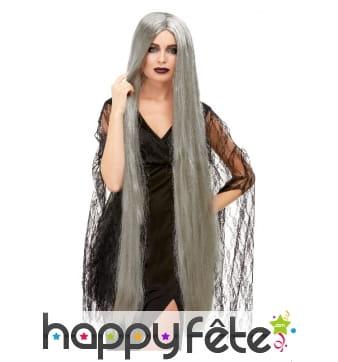 Longue perruque grise de 120cm