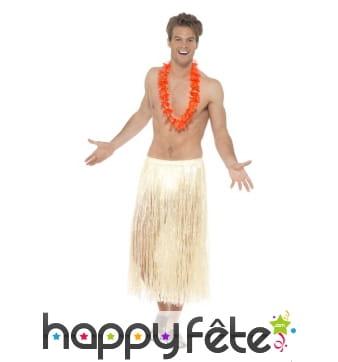 Long pagne hawaïen couleur paille