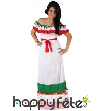 Longue robe aux couleurs du Mexique