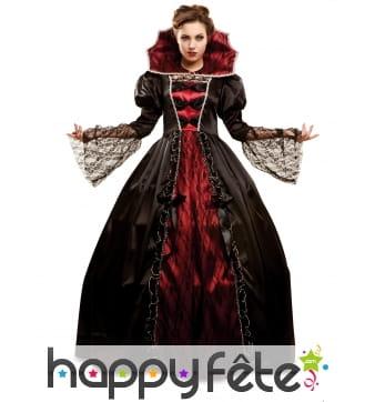 Large robe baroque de vampire pour femme