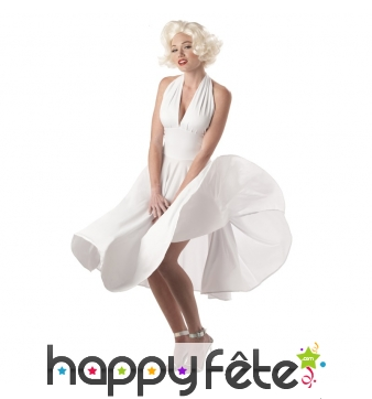 Longue robe blanche Marilyn monroe