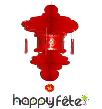 Lanterne rouge chinoise à suspendre de 80cm