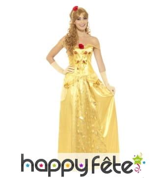 Longue robe de Belle pour femme adulte
