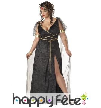 Longue robe de déesse romaine grande taille