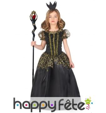 Longue robe de la méchante reine pour enfant