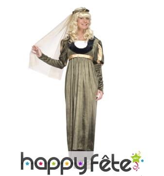 Longue robe de princesse médiévale