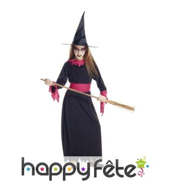 Longue robe de sorcière pour fille